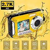Unterwasserkamera Unterwasser Kamera FHD 2.7K zum Schnorcheln 48MP Selfie Dual Screen wasserdichte Kamera Point & Shoot Digitalkamera