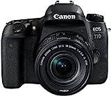 Canon EOS 77D SLR-Digitalkamera (24,2 MP, 7,7cm (3 Zoll) Display, APS-CCMOS Sensor, Full HD, Kit inkl. EF-S 18-55mm 1:4-5, 6 IS STM Objektiv) schwarz