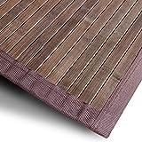 casa pura Bambusteppich Tibet (Braun) | für Bad und Wohnzimmer | natürlich wohnen Bambus | Bambusmatte in vielen Größen (120x180 cm)
