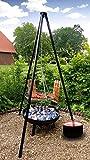 Grill Set 4 in 1 Feuerschale, Schwenkgrill, Flammlachs Grill Feuertopf Feuerkorb
